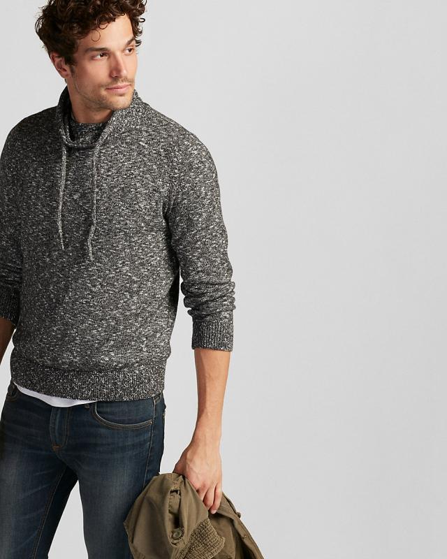 Merino Wool Blend Thermal Regulating V-Neck Sweater