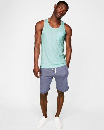 Jersey Scoop Neck Pocket Tank